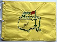 Jose Maria Olazabal signed Masters flag pga golf augusta national