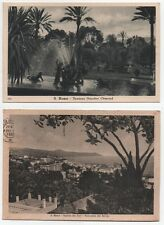 LOTTO di 2 Cartoline San Remo - FONTANA GIARDINI ORMOND, PANORAMA DAL BERIGO