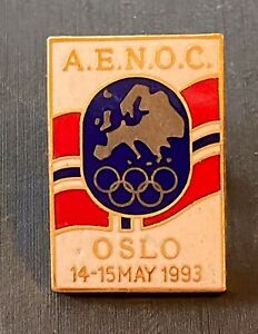 LILLEHAMMER 1994 NOC PINS - DATED  NORWAY 1993 AENOC CONGRESS NOC PIN
