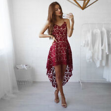 Fashion Womens Summer Sleeveless Evening Party Cocktail Short Mini Lace Dress