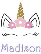 Unicorn Custom Birthday T Shirt Gift Personalize Name