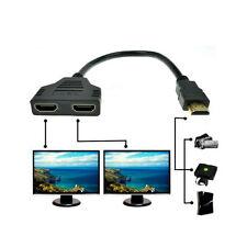 1080P HDMI Port Stecker auf 2 Buchse 1 In 2 Out Splitter Kabel Adapter Konverter