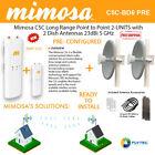 Mimosa C5C Long Range PTP 5GHz 2-Units + Dish Antennas 23dBi 5GHz 2Units PRE-CON