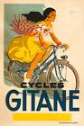 Cycles Gitane Vintage Bicycle Poster Print Art Advertisement - Cycling