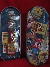 """Lorus Mickey Mouse watch w/ tin """"Mickey's Circus"""", MIB"""