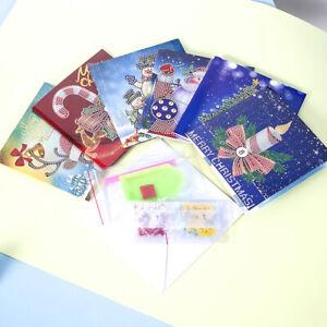 Christmas Diamond Painting Greeting Card Kits DIY Handmade Cartoon Gift Decor