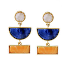 Hot Fashion Blue Stone Moon Pendent Lady's Pin Earrings