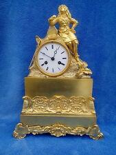 Antike Empire Bronze Kaminuhr  Feuervergoldet v. ca.1830 sehr guter Zustand
