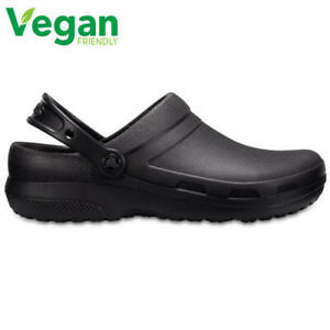Crocs Specialist II Mens Womens Black Medical Chef Work Clogs Vegan Shoes Size