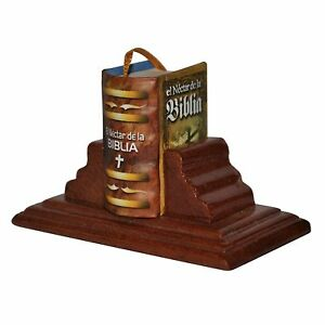 New Miniature Book El Nectar de la Biblia w/stand in Spanish hardbound 302 pag