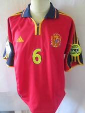 España euro 2000-2002 Hierro 6 Hogar Camiseta De Fútbol Talla XL/34559