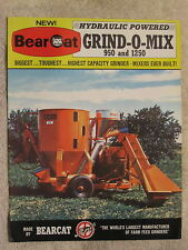 1969 BEARCAT 950 & 1250 GRIND-O-MIX FEED GRINDER 8 PAGE BROCHURE NICE