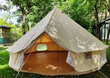 4 Season 5M Canvas Bell Tent with Detachable Waterproof Family Camping Yurt Tent
