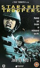 Starship Troopers, Sci Fi, PAL VHS Video Tape, 1998, Cert 18,.