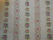 Antique French Watered Roses Cameo Cotton Fabric ~ Pink Lavender ~ Dolls Bears