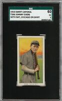 Rare 1909-11 T206 Johnny Evers Chicago Shirt HOF Sweet Caporal 350 SGC 60 / 5 EX