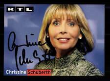 Christine Schuberth RTL Autogrammkarte Original Signiert # BC 86395