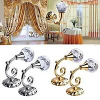 2x Metal Crystal Curtain Holdback Wall Tie Backs Hooks Hanger Holder Home Decors
