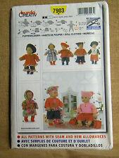 BURDA  PATTERN 7903  COAT TOP PANTS DOLL CLOTHES SIZES 16-18 INCHES  UNCUT