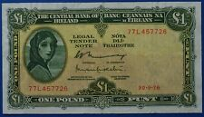 More details for ireland 1976 lady lavery £1 banknote          ch13-137