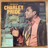 "USED! Charley Pride: ""The Best Of Vol 2"" LP Vinyl Record-G"