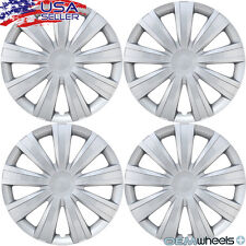"""SET OF 4 NEW SILVER 15"""" HUB CAPS FITS DAEWOO SUV CAR CENTER STEEL WHEEL COVERS"""