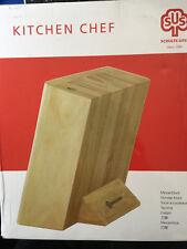 Schulte-Ufer SUS Messerblock Kitchen Chef  für 8 Teile unbestückt Messer Block