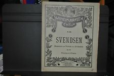 partition SVENDSEN ROMANCE pour VIOLON op 26 acc piano