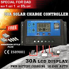 30A 12V-24V LCD Display PWM Solar Panel Regulator Charge Controller & Timer NY