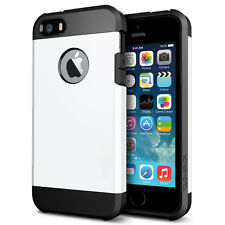 STEALTH WHITE TOUGH ARMOUR SHOCK CASE FOR IPHONE SE LIKE SPIGEN LIFEPROOF