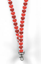 1 x QUEEN OF HEARTS Pretty Romantic Love ID Card Neck Strap LANYARD! FREE UK P&P