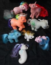 MY LITTLE PONY, SUPER LOT OF ORIGINAL PONIES, BABIES, SEAPONY, 1980'S, LOT OF 8!
