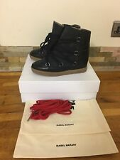 Isabel MARANT ETOILE nowles Suede & Leather SHEARLING Foderato Stivaletti UK 4