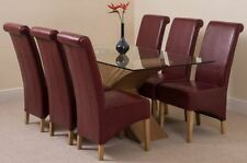 Oak Up to 6 Seats Table & Chair Sets with 5 Pieces