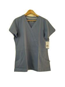 Nurse Mates Women's Ceil Blue Lauren Scrub Top Size Large