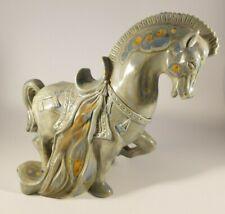 Vintage Arden's Celadon Green Glazed Ceramic  Horse Sculpture Figurine.