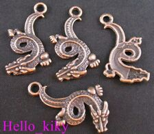 50 Antiqued copper plt CHINA dragon charms A443-2