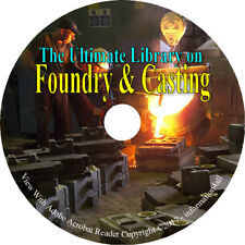 121 Books on DVD – Foundry & Casting, Metal Metalworking Iron Metaling Cast Mold