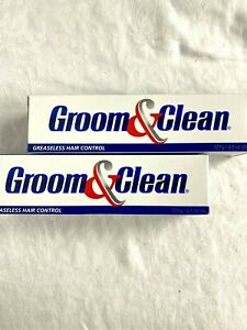 Groom and Clean Lot of 2 Greaseless Natural Hair Control Pomade Smooth Look 4.5