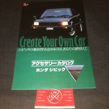 2G Honda Civic Hatchback JDM Brochure Sedan 80-83 82 81 Rare Accessories Catalog