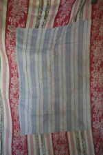 Napoleon III French TICKING cotton PATCHED red cramoisi FLORAL c1850