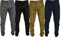 Crosshatch chinos Mens Designer Twisted Leg Regular Fit Tapered Jeans,Charcoal