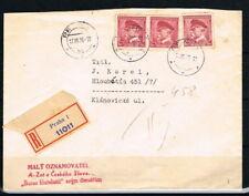 Böhmen und Mähren: MiNr. M 350 Mitläufer Mef auf R-Brief Prag 1939 [10955