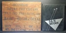 c1940s Wwii Bryan Army Air Field Wood Crate End ☆ 501st Texas A&M ☆ Plus '56 Yb