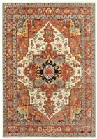 """Hand Knotted Ivory Rust Wool New Oriental Rug Carpet 9'1"""" x 11'10"""""""