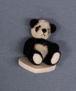 "World of Miniature Bears, Panda by Stacy Pio, 1"" Tall, 1:12 Plush Bear"