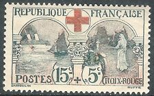 France 1918 Red Cross Fund red/grey-green 50c + 5c  mint SG378