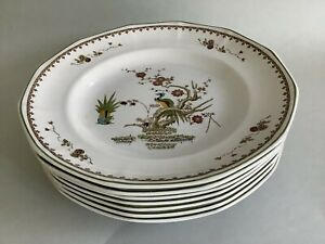 Vintage Wedgwood Of Etruria & Barlaston 'Old Chelsea' 26cm Dinner Plates X7