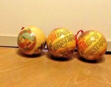 Vintage Paper Mache Christmas Ball Ornament Decoupage Santa Ornament Bulb