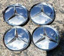 Set of 4 Aftermarket Mercedes-Benz w126 w140 r129 CHROME Wheel Center Caps #A